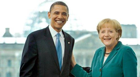 Angela Merkel accueille jeudi Barack Obama à Berlin. AFP