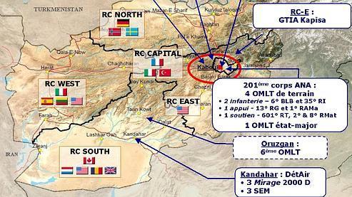 Les militaires français présents en Afghanistan