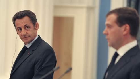 Nicolas Sarkozy et Dmitri Medvedev, le 12 août dernier.