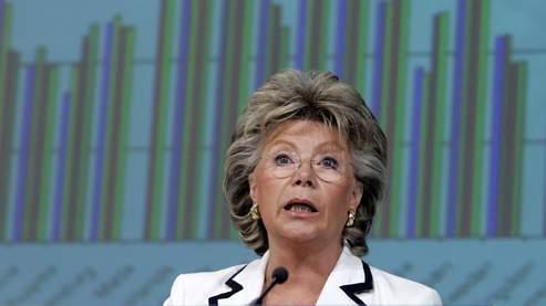 Pour Viviane Reding, le fait de rejeter ou pas cet amendement n'interdira pas aux Etats membres d'instaurer des dispositifs anti-piraterie. (AP)