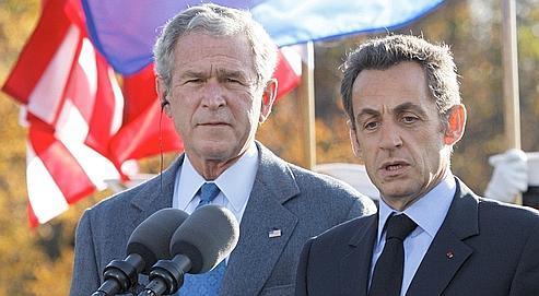 «Nous voulons construire un monde nouveau, le monde du XXIe siècle, et nous voulons le construire main dans la main avec vous», a déclaré Nicolas Sarkozy à George Bush, samedi à Camp David.