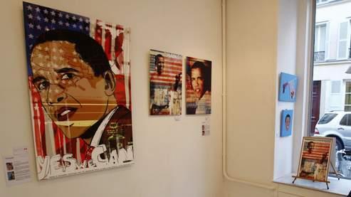 Obama s'affichedans une galerie parisienne