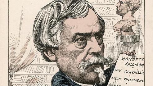 Caricature d'Edmond de Goncourt.