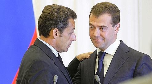 Nicolas Sarkozy et Dimitri Medvedev, ici en août dernier.