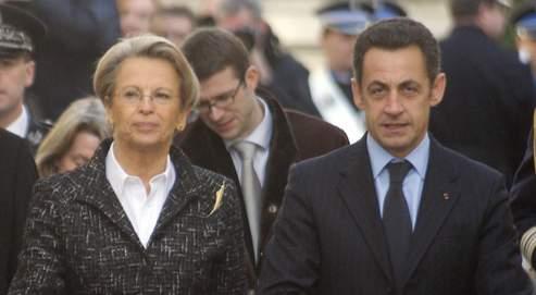 Michèle Alliot-Marie et Nicolas Sarkozy (AFP).