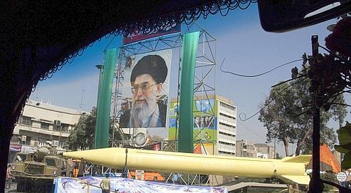 Démonstration militaire du missile balistique longue portée Sahab3, en sepembre dernier.