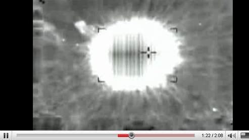 Capture d'une des vidéos mises en ligne par l'armée israélienne sur YouTube.