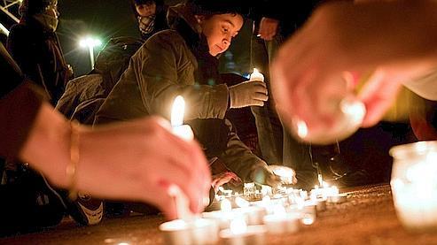 Manifestation de soutien aux 1013 victimes palestiniennes, mercredi à Lyon.