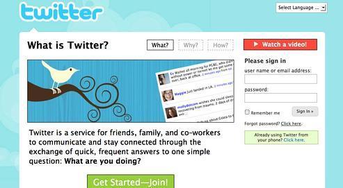 Lancé comme un service de messagerie,Twitter est devenu le site qui a connula plus forte croissance sur Internet.Ses atouts : la brièveté des messages, la rapidité des transmissions et la simplicité d'utilisation. (DR)