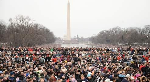 Une marée humaine a assisté dimanche à l'ouverture des festivités devant le Lincoln Memorial, à Washington.