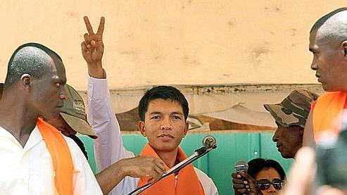 Andry Rajoelina, 34 ans, est le principal opposant du président malgache. Crédits photo : Bouhet/AFP