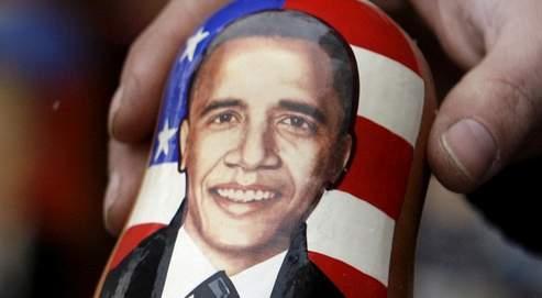 Quand présidence américainerime avec tradition russe.À Moscou, on trouve désormaisdes matriochkas à l'effigiede Barack Obama.