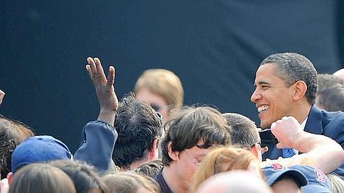 Barack Obama a affirmé que son pays était désormais prêt à «prendre la tête» des efforts dans le monde pour lutter contre le changement climatique. Crédits photo: Klamar/AFP