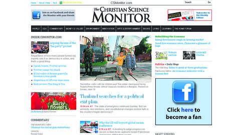 Le quotidien américain The Christian Science Monitor, basé à Boston, a renoncé à sa version papier le 27 mars dernier.