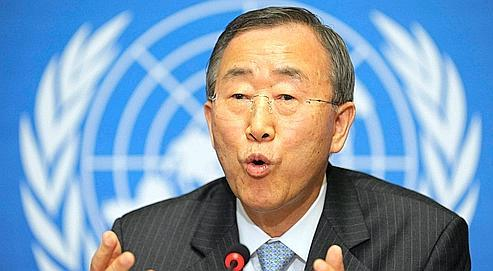 Ban Ki-moon, le secrétaire général des Nations unies, a raté son pari. (AP Photo/KEYSTONE/Laurent Gillieron)