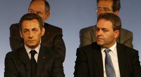 Nicolas Sarkozy et Xavier Bertrand en mai 2008. Le patron de l'UMP a jugé que «quand on a une telle haine, on ne peut pas être un grand responsable politique».