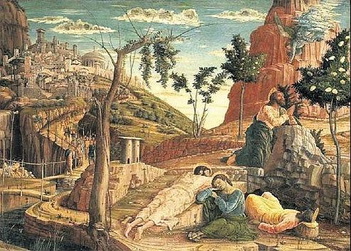 Un mantegna en trois morceaux for Au jardin des oliviers