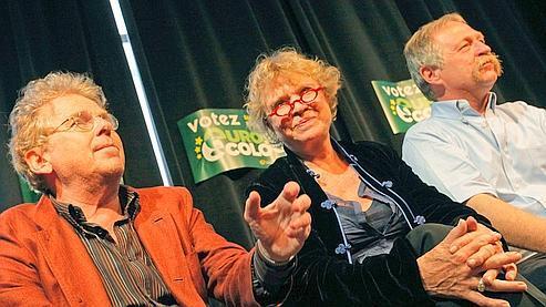 Daniel Cohn-Bendit a tenu une conférence de presse lundi aux côtés d'Eva Joly et José Bové.