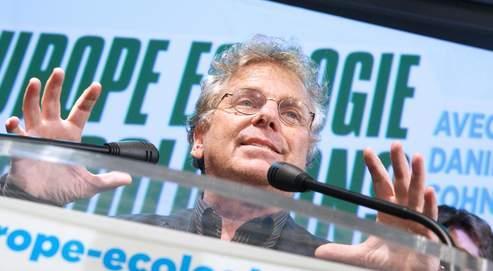 Daniel Cohn-Bendit, dimanche soir à La Bellevilloise, à Paris, où les militants d'Europe Écologie ont fêté les résultats.