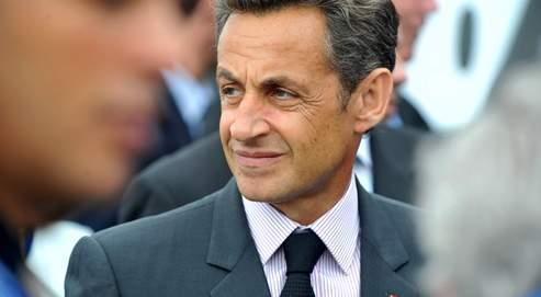 Nicolas Sarkozy samedi au Salon du Bourget.