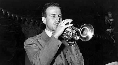 Boris Vian, au Festival de jazz de Paris, en mai 1949.