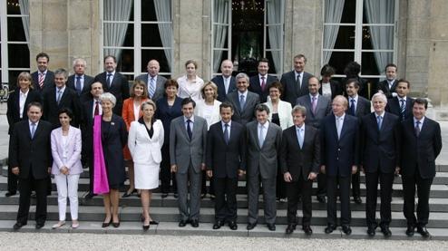 Le gouvernement Fillon II, le 20 juin 2007.