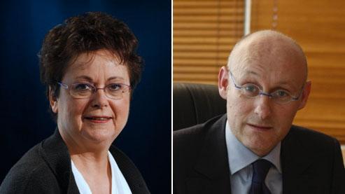 Christine Boutin et Bernard Laporte (photos : Le Figaro).