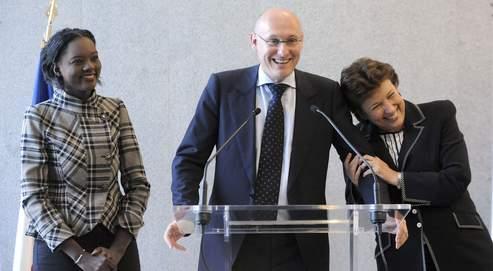 Bernard Laporte a provoqué les rires de la salle en évoquant ses «rapports privilégiés» avec Rama Yade, qui lui succède au poste de Secrétaire d'Etat aux Sports auprès de Roselyne Bachelot.