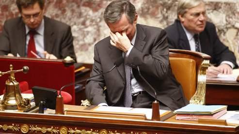 L'autorité du président de l'Assemblée nationale, Bernard Accoyer, a souvent été remise en cause par le PS, notamment pendant la réforme du réglement intérieur du Palais-Bourbon. (François Bouchon / Le Figaro)