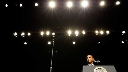 Le 44e président américain, le 3 août dernier, à l'université George Mason de Fairfax, en Virginie.