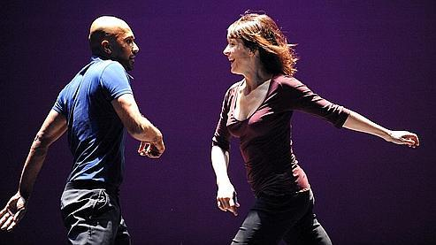 Juliette Binoche et Akram Khan dans In-I (Photo Tristam Kenton).