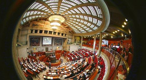 Le Conseil économique et social, à Paris.