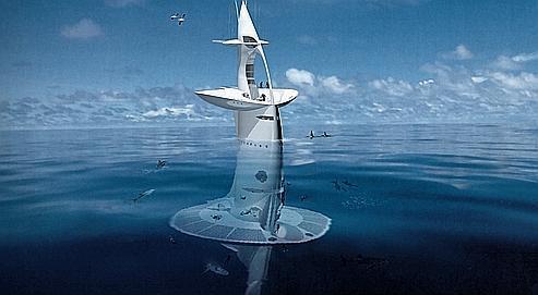 Conçue par Jacques Rougerie, la station mesurera 51mètres de haut, dont31 sous l'eau, et pourra accueillir dix-huit personnes à bord.