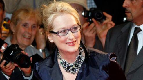 Meryl Streep, samedi, avant la diffusion de Julie et Julia, le film réalisé par Nora Ephron dans lequel l'actrice américaine tient le rôle d'une cuisinière des années 1960 très célèbre aux États-Unis.