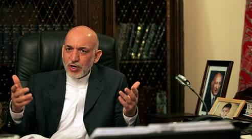 Hamid Karzaï: «Mon gouvernement a redonné l'Afghanistan aux Afghans. Communistes, moudjahidins, religieux, non-religieux, hommes, femmes…, tous sont revenus en Afghanistan.» (Crédits photo : David Goldman pour Le Figaro)