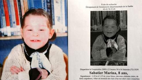 Reproduction de l'avis de recherche diffusé par la gendarmerie suite à la disparition de Marina Sabatier.