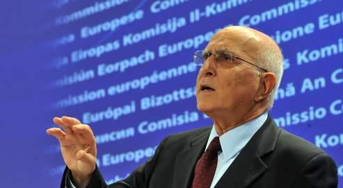Le commissaire européen à l'Environnement, Stavros Dimas, jeudi à Bruxelles.