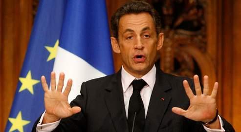 Nicolas Sarkozy à la Sorbonne lundi.