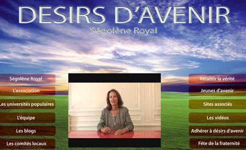Ségolène Royal s'est exprimée via une vidéo diffusée mardi soir sur le nouveau site internet de Désir d'avenir.