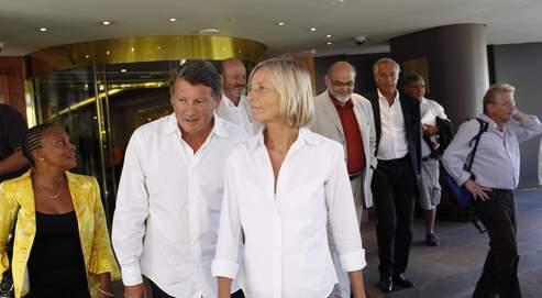 Christiane Taubira, Vincent Peillon, Marielle de Sarnez, Robert Hue, François Rebsamen et Daniel Cohn-Bendit, le 22août à Marseille.