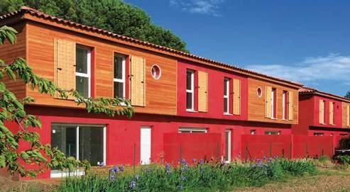 Les maisons quatre pièces des «Jardins de Roses » cachent des formes arrondies et une multitude de rangements. DR
