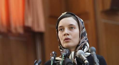 Clotilde Reiss pendant son procès à Téhéran, le 8 août 2009. La jeune universitaire attend toujours, officiellement, le verdict.