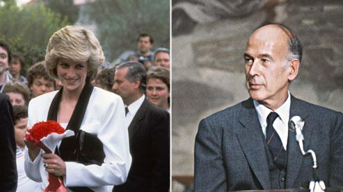 Valéry Giscard d'Estaing et la princesse Diana au début des années 1980, soit au moment où l'idylle aurait eu lieu.