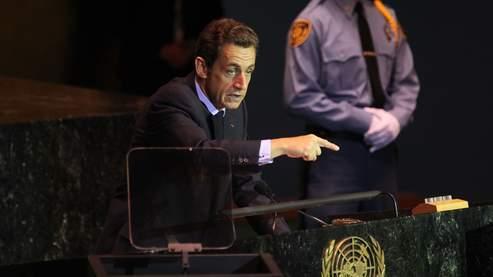 Le président français, Nicolas Sarkozy, mardi, aux Nations unies, à New York.