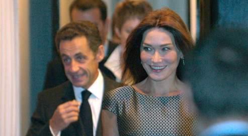 Nicolas et Carla Sarkozy, mardi à New York.