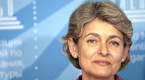 Irina Bokova, mardi, à Paris. Pour la première fois de son histoire, l'Unesco sera dirigé par une femme.