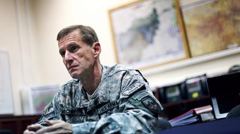 «Cette guerre est une confédération d'insurrections. Leur seul ciment, c'est la haine du gouvernement en place», explique le général McChrystal. (Crédits photo : D. Goldman / pour Le Figaro)