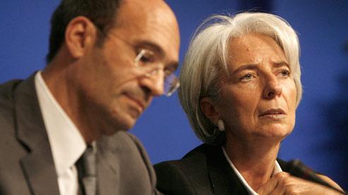 Éric Woerth (Budget) et Christine Lagarde (Économie) vont annoncer mercredi que 190000emplois seraient détruits en 2010.