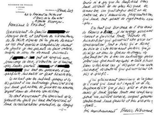 La lettre publiée vendredi par le Quotidien de la Réunion.