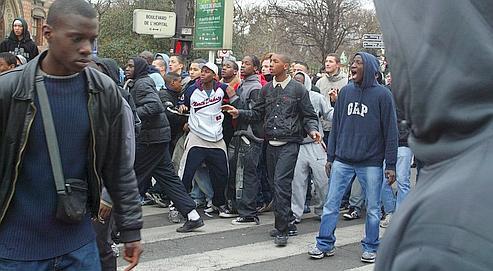 Violences en marge d'une manifestation de lycéens.